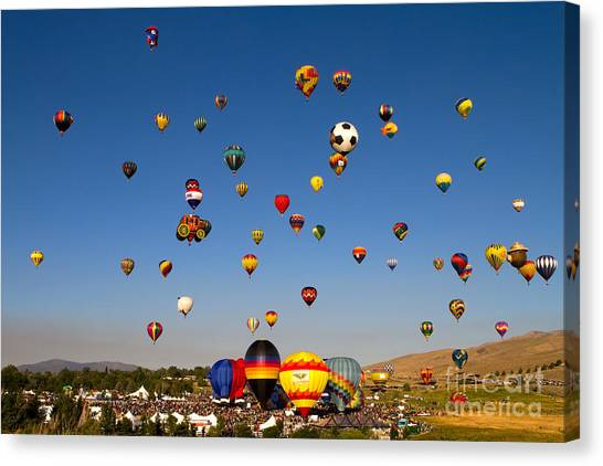 Great Reno Balloon Race Canvas Print