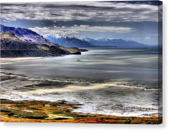 Great Salt Lake From Antelope Island Canvas Print