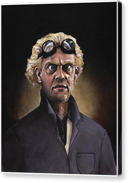 Back To The Future Canvas Print - Great Scott by Richardson Comly