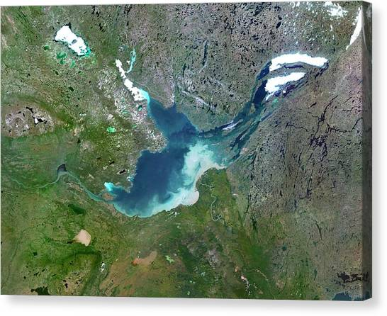 Northwest Territories Canvas Print - Great Slave Lake by Planetobserver/science Photo Library