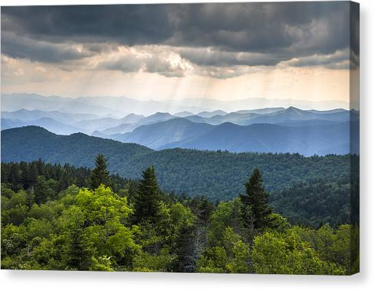 Blue Ridge Parkway Canvas Print - Great Smoky Mountains From Blue Ridge Parkway by Dave Allen