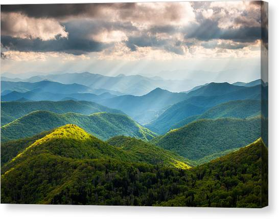 Blue Ridge Parkway Canvas Print - Great Smoky Mountains National Park Nc Western North Carolina by Dave Allen