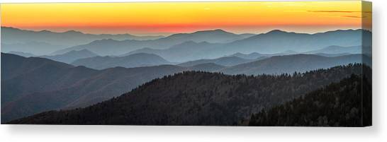 Great Smoky Mountains National Park Sunset Canvas Print