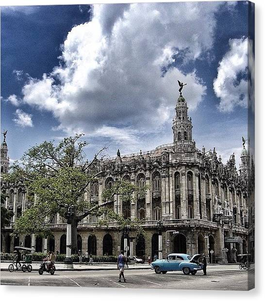 Iger Canvas Print - great Theater Of Havana ( Built On by Joel Lopez