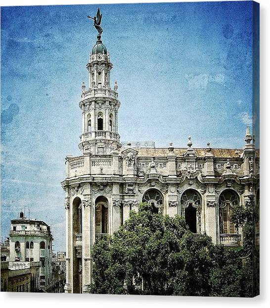 Iger Canvas Print - great Theatre Of Havana (1838 - by Joel Lopez