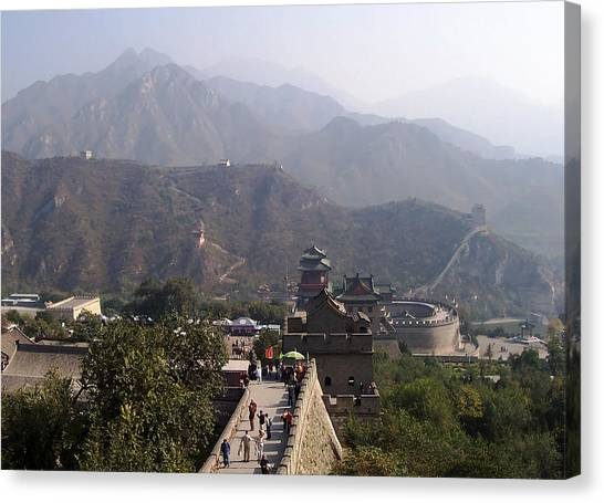 Great Wall Of China At Badaling Canvas Print