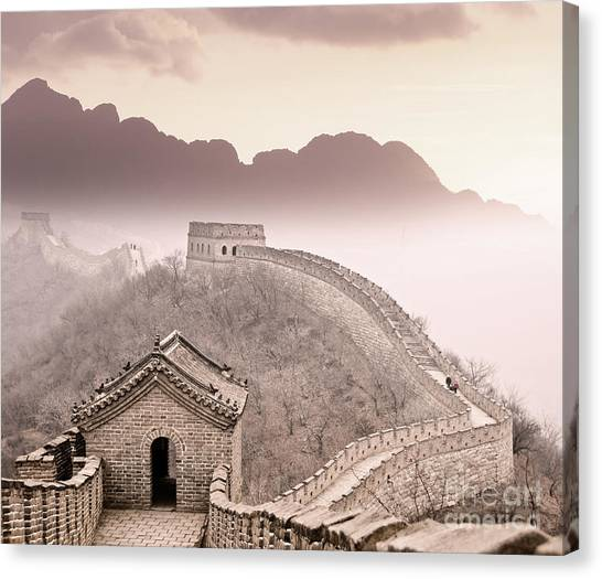 Border Wall Canvas Print - Great Wall Of China by Delphimages Photo Creations