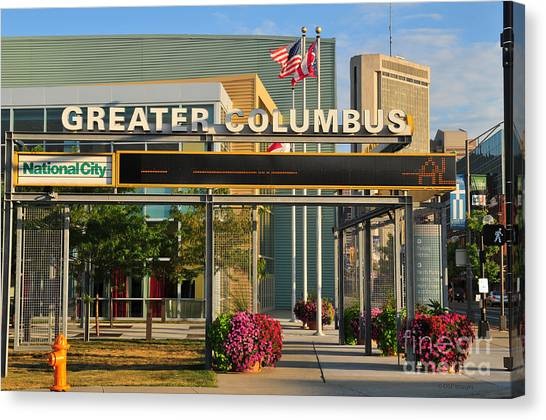 D8l-245 Greater Columbus Convention Center Photo Canvas Print