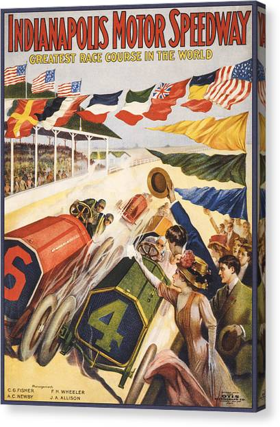 Flyer Canvas Print - Greatest Race Course In The World by Aged Pixel