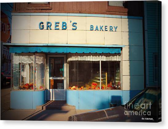 Diners Canvas Print - Greb's Bakery Pittsburgh by Jim Zahniser