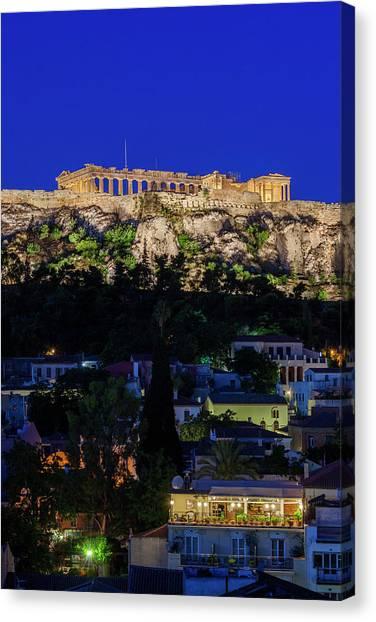 Greece, Athens, Acropolis Canvas Print