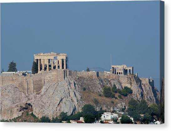 The Acropolis Canvas Print - Greece, Athens Downtown Athens View by Cindy Miller Hopkins