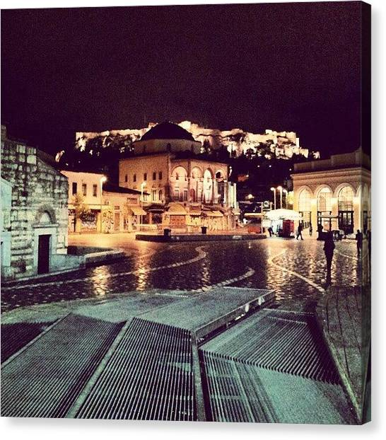 The Parthenon Canvas Print - #greece #athens #monastiraki #kentro by George Ballous