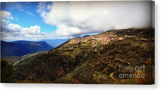 Greece Countryside Canvas Print