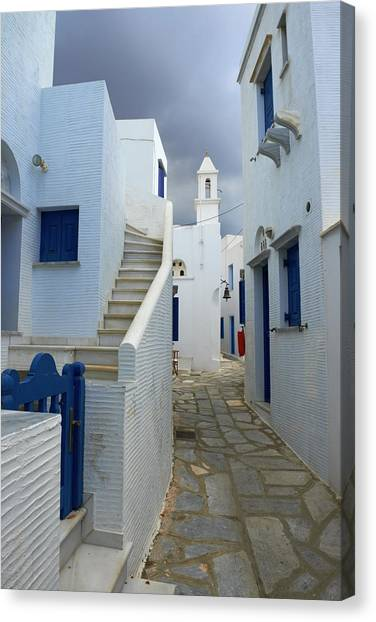 Greece, Cyclades Islands, Tinos, Pyrgos Canvas Print