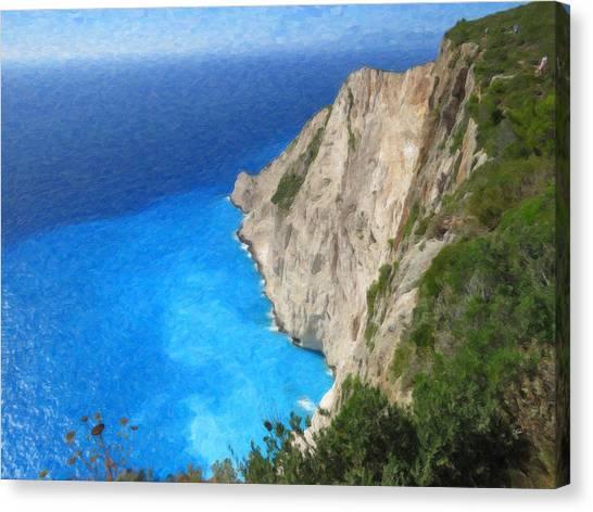 Greek Coast Grk4188 Canvas Print