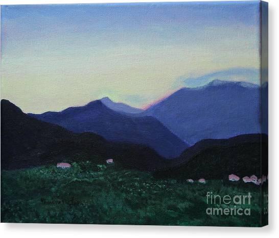 Greek Countryside Canvas Print