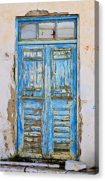 Greek Door Canvas Print