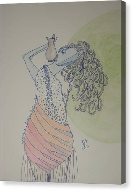 Cantankerous Canvas Print - Greek Goddess by Carolina Campbell