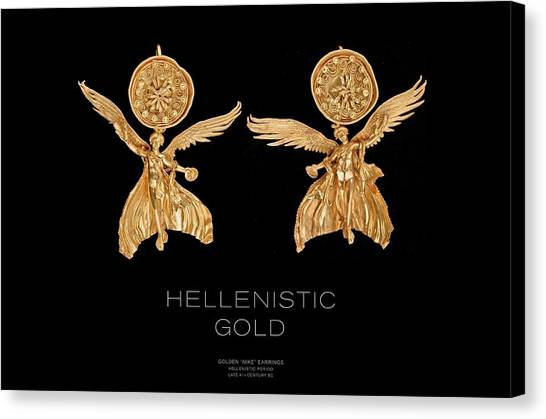 Greek Gold - Hellenistic Gold Canvas Print by Helena Kay