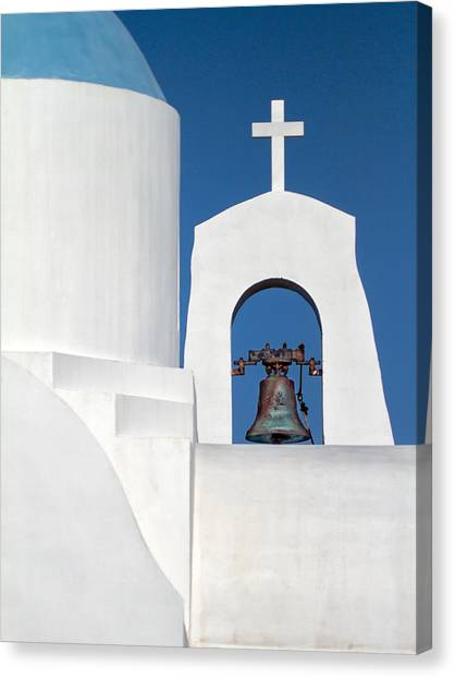 Greece Canvas Print - Greek Island Church by Stelios Kleanthous