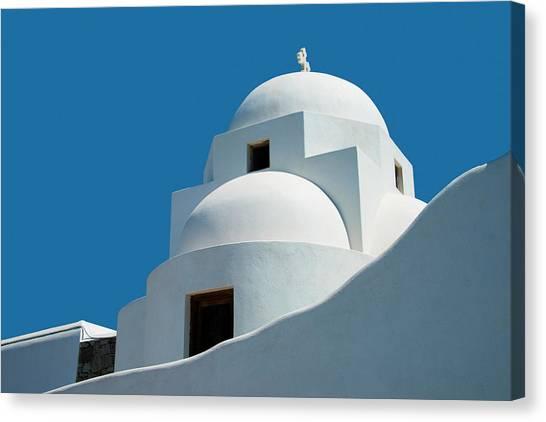 Greek Orthdox Church In Mykonos Canvas Print