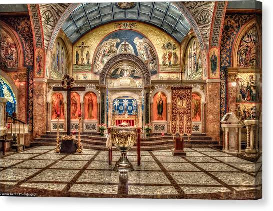 Greek Orthodox Cathedral Of Saint Paul Canvas Print