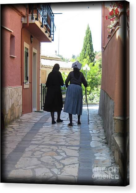 Greek Women Canvas Print