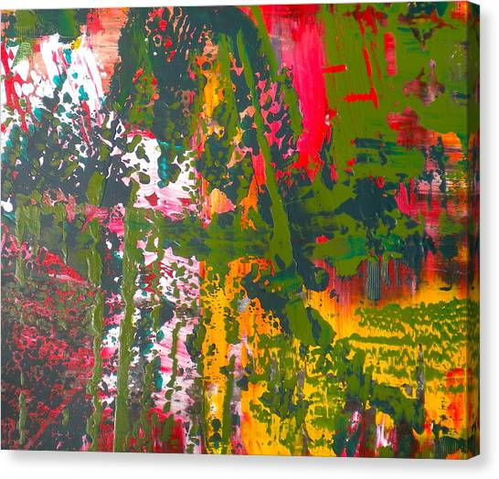 Green Abstract 3 Canvas Print