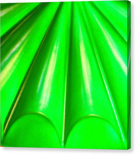 Green Canvas Print - Green Abstract by Christy Beckwith