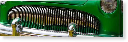 Green And Chrome Teeth Canvas Print