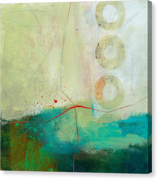 Collage Canvas Print - Green And Red 2 by Jane Davies