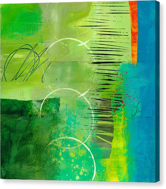 Collage Canvas Print - Green And Red 5 by Jane Davies