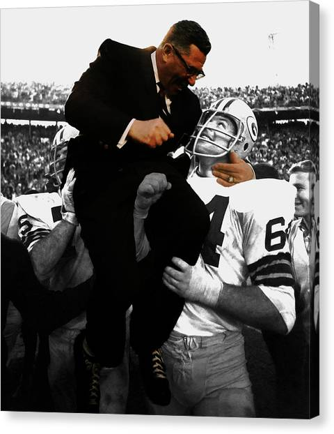 Vince Lombardi Green Bay Packers Canvas Print