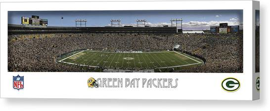 Green Bay Packers Canvas Print - Green Bay Packers Panorama by Retro Images Archive