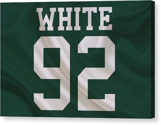 Reggie White Canvas Print - Green Bay Packers Reggie White by Joe Hamilton
