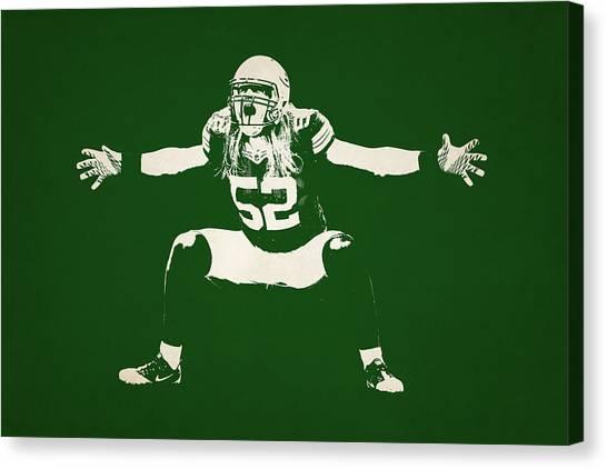Clay Matthews Canvas Print - Green Bay Packers Shadow Player by Joe Hamilton