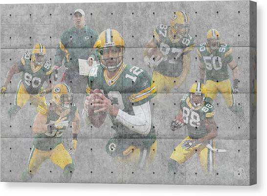 Green Bay Packers Canvas Print - Green Bay Packers Team by Joe Hamilton