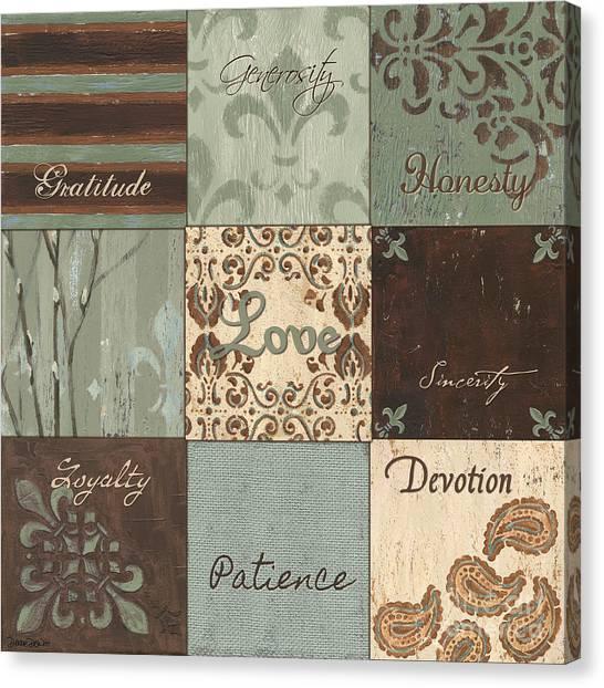 Willow Canvas Print - Green Brown Wtlb 1 by Debbie DeWitt