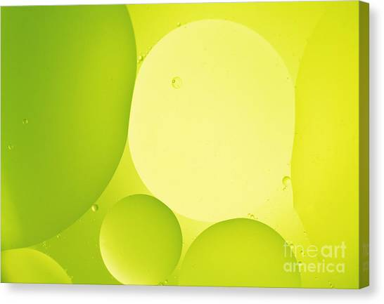 Green Bubbles Canvas Print by Angela Bruno
