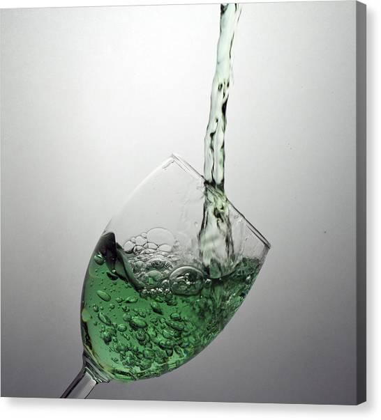 Green Bubbly Canvas Print by John Hoey