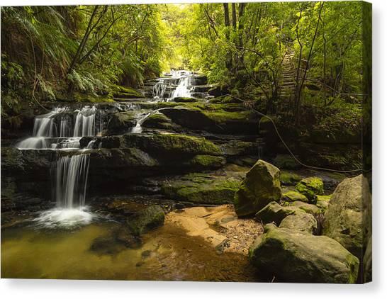 Green Cascades Canvas Print