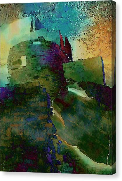 Green Castle Canvas Print