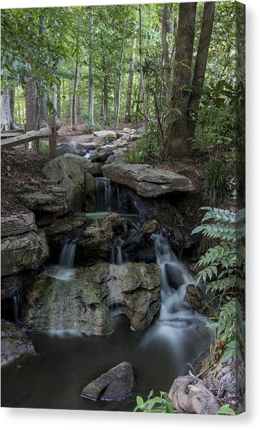 Green Cave Cascade Canvas Print