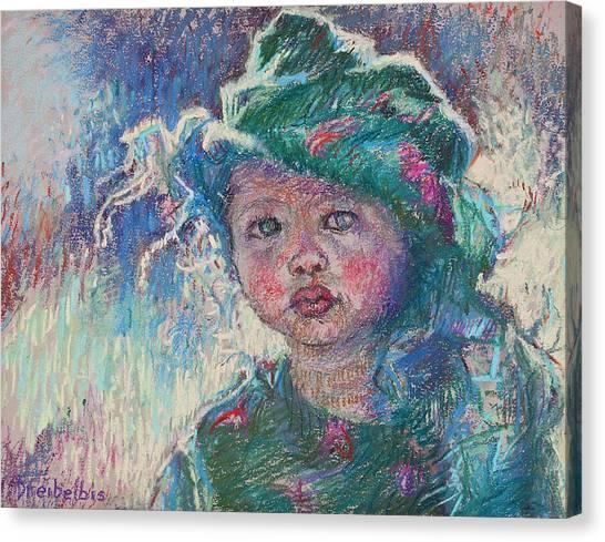 Green Child Canvas Print
