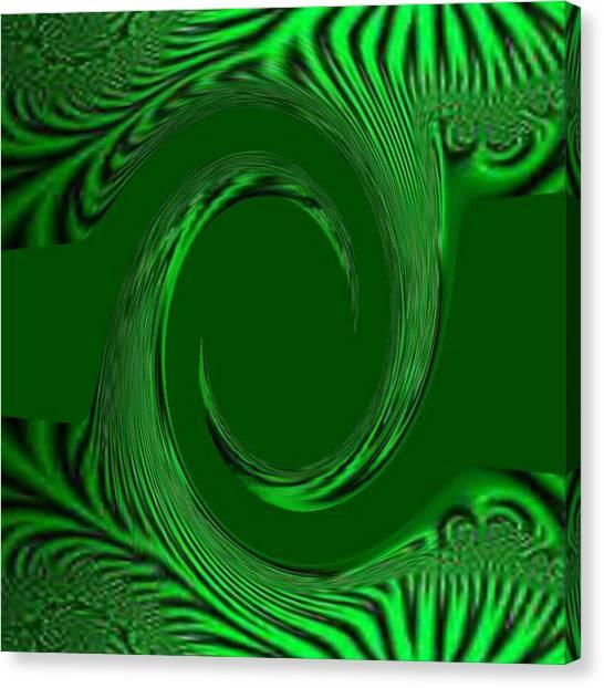 Green Fabric Canvas Print