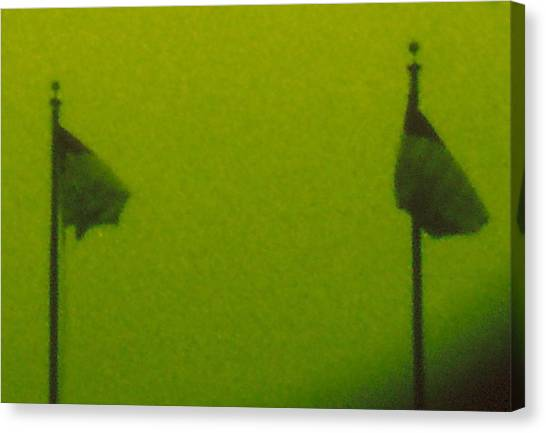 Green Flags Canvas Print by Lawrence Horn