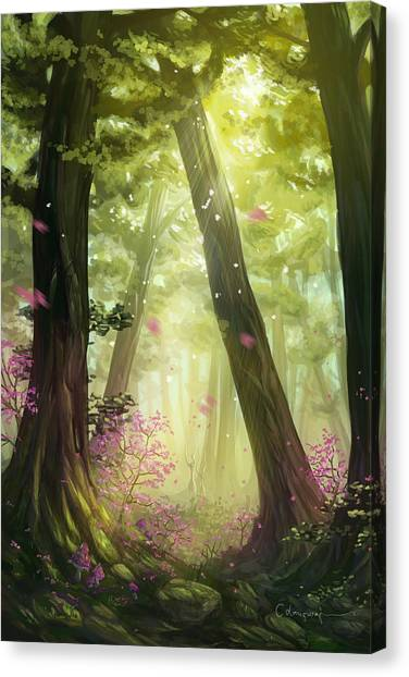 Summer Canvas Print - Green Forest by Cassiopeia Art