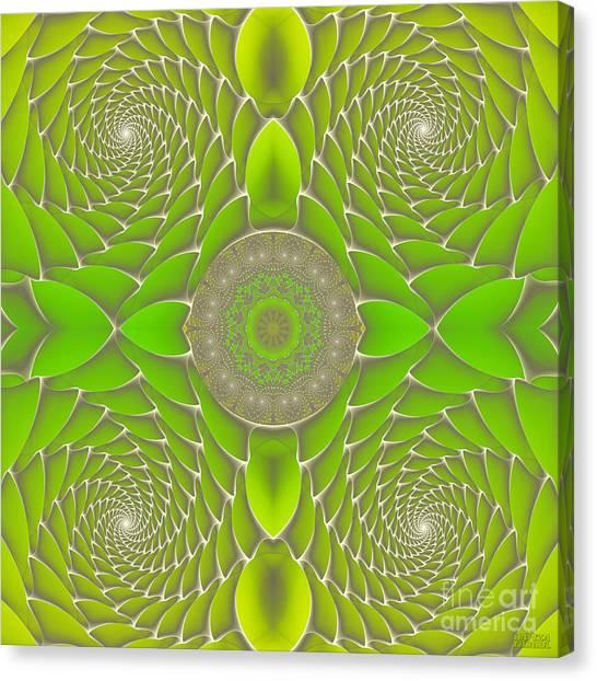Green Fractal Jewel Canvas Print