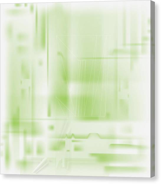 Green Ghost City Canvas Print